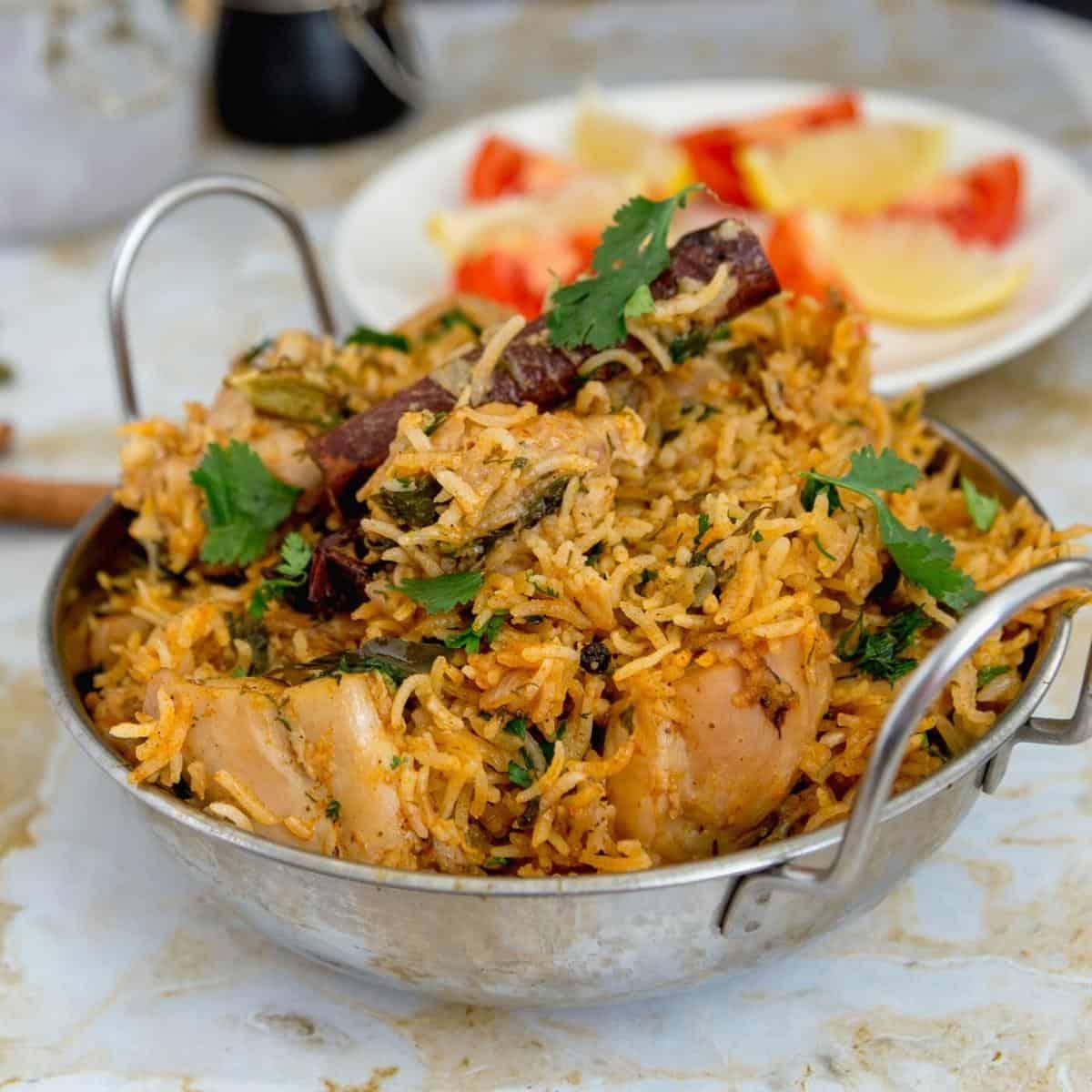 A dish with birayni.