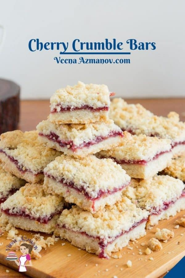 Pinterest image for bars with cherries.