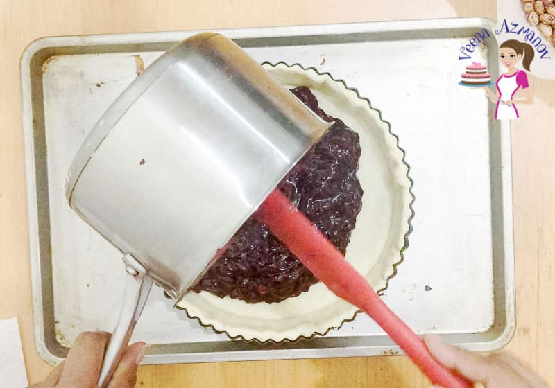 Pour the Cherry Filling into the Pie Crust