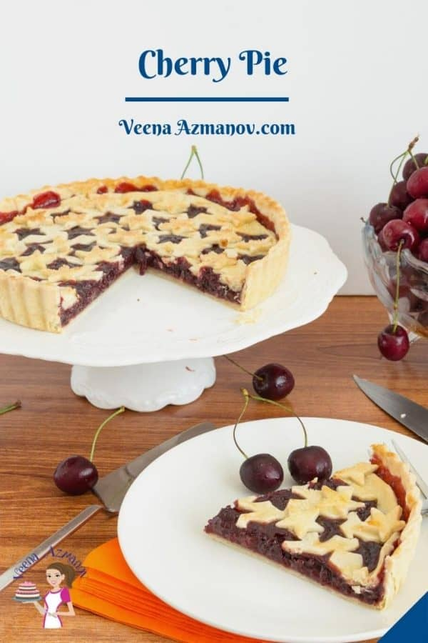Pinterest image for cherry pie.