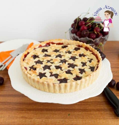 A freshly baked Homemade Pie with Fruit Filling - Homemade Cherry Tart