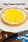 A top view of the lemon slices on the tart