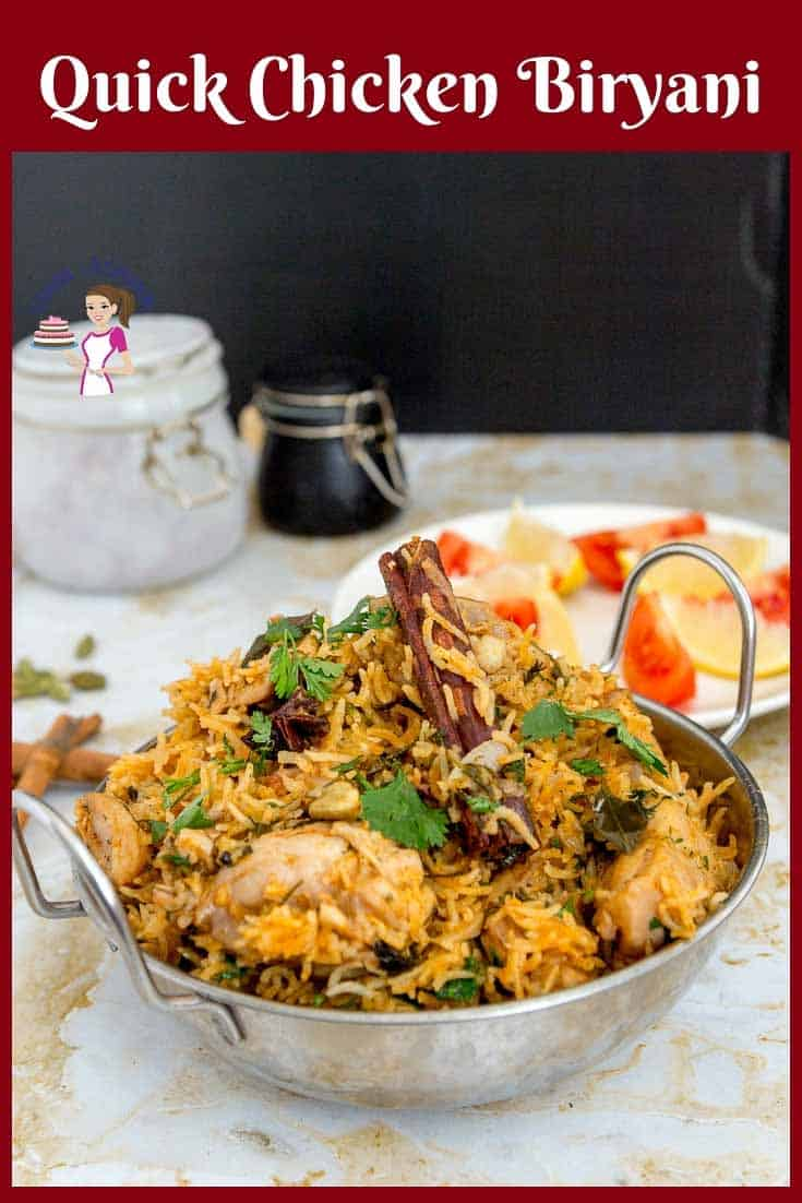 Indian Biryani made with chicken served in a ethnic Indian pot -