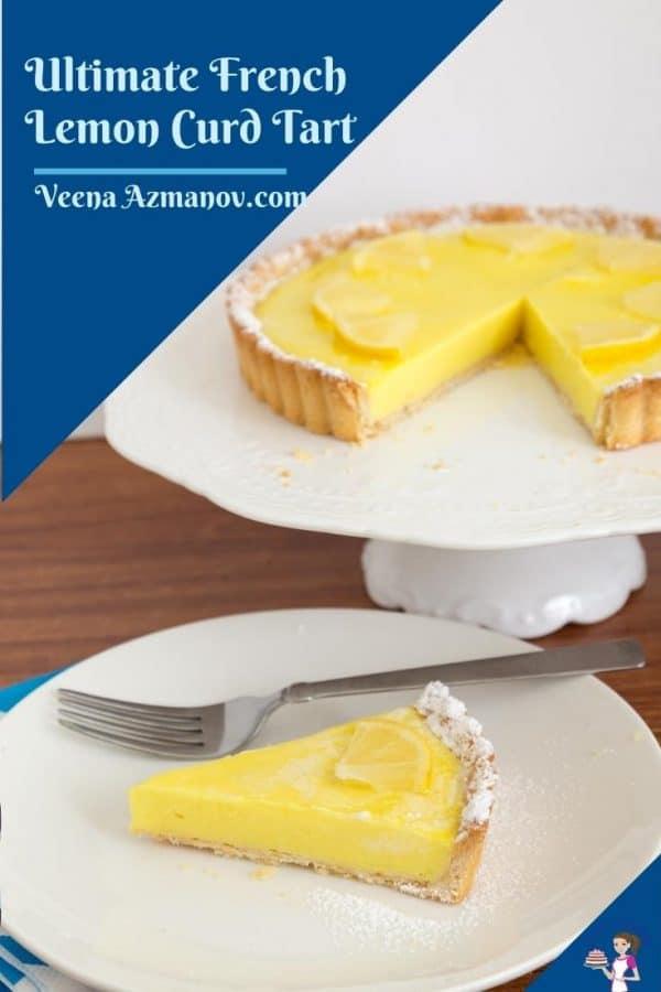 Pinterest image for lemon tart