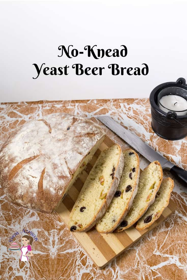 Bread making with beer or ale using yeast with Progress Pictures