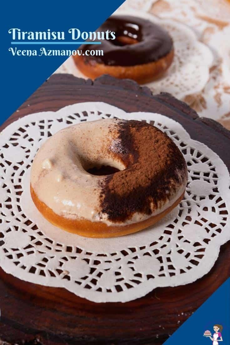 Donut on a white doilly