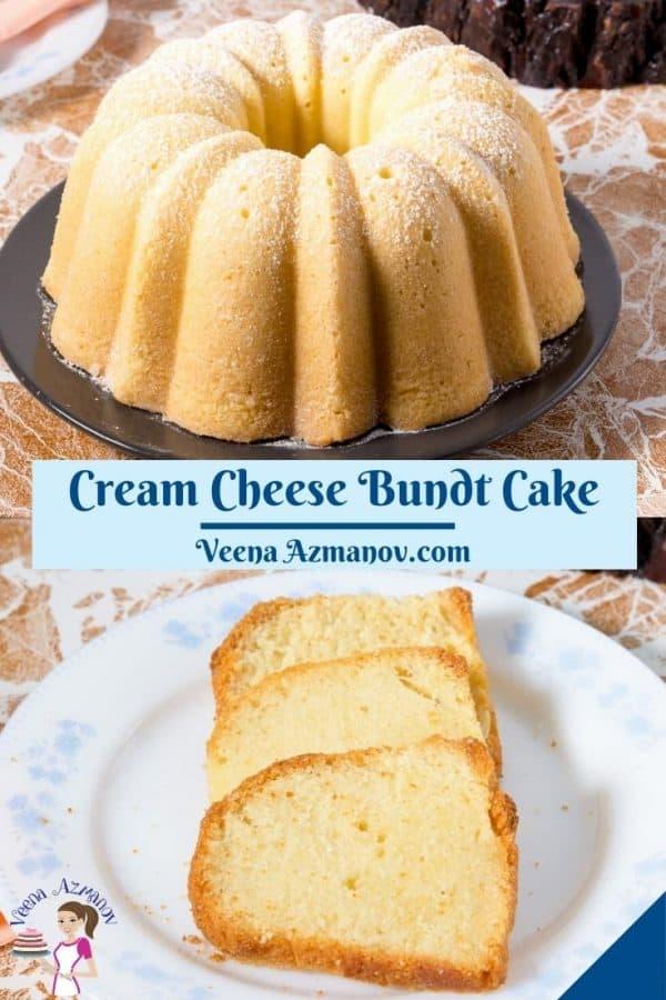 Pinterest image for pound cake.