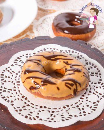 A donut with dulce de leche glaze.