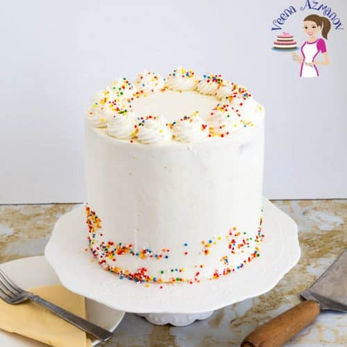 Pleasant Vanilla Birthday Cake Veena Azmanov Funny Birthday Cards Online Benoljebrpdamsfinfo
