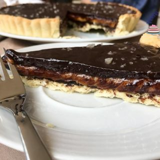 Salted Caramel in a tart with Chocolate ganache Recipe with progress pictures