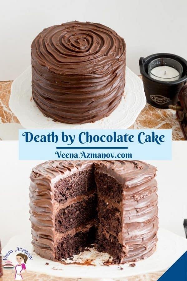 Pinterest image for chocolate cake.