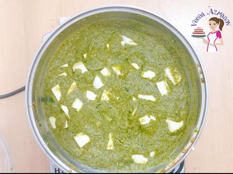 Learn to make the classic palak paneer using silken tofu and homemade curry powder - with video and progress pictures