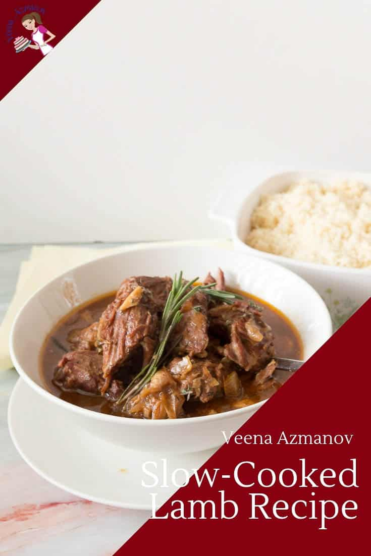 Slow cooking lamb in a slow cooker or crock pot is the best thing you can do to red meat especially if you can just add everything to the pot and cook. This slow cooker lamb will give tender, juicy, fork-tender meat in just 4 hours with a rich creamy sauce that works a treat over steamed rice or crusty bread. #slowcooking #slowcooked #lamb #recipes #slowcooker #crockpot via @Veenaazmanov