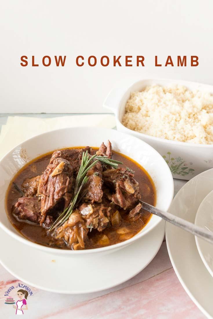 How to cook lamb in a crock pot or slow cooker until fork tender