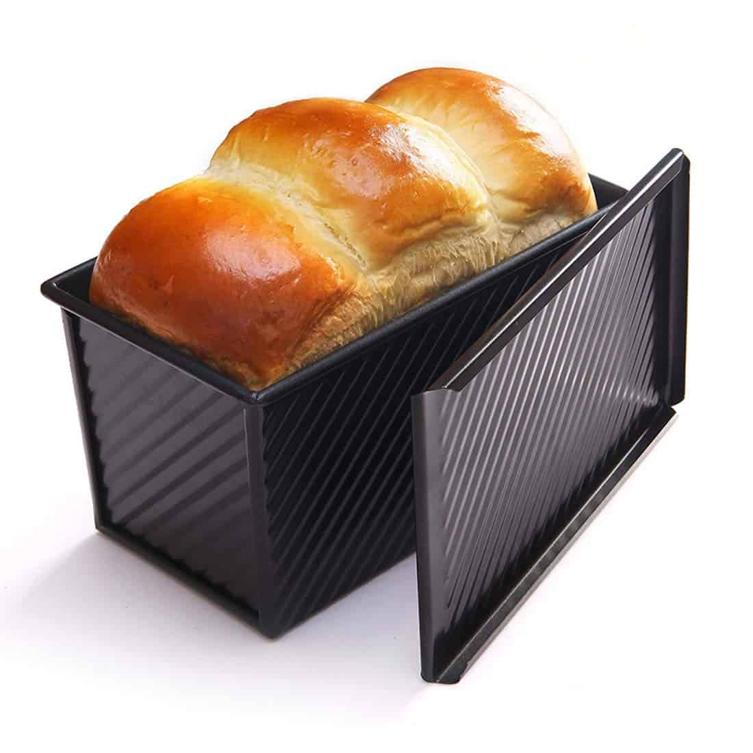 A classic Brioche Bread made into a loaf using pullman pan. Step by Step and video recipe