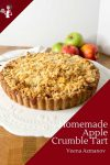 Make a pie or tart with rich shortcrust pastry, apple filling and crumble topping with this video tutorial