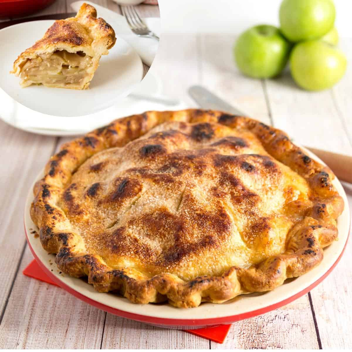How to make homemade pie with apples and a double pie crust