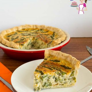 A step by step guide to the best quiche with asparagus and leek