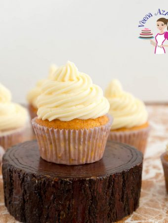 Make light and airy vanilla cupcakes with this cupcake recipe in vanilla flavor.