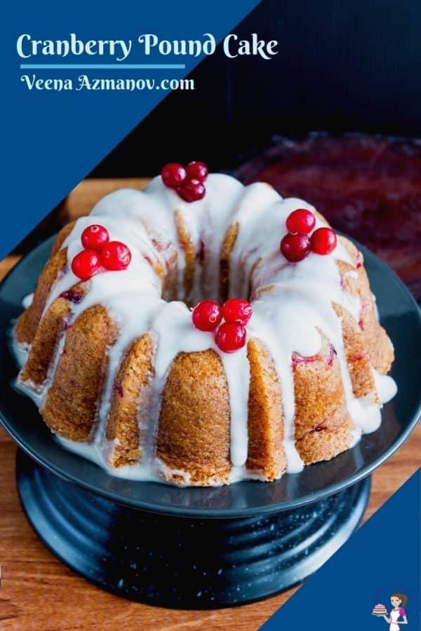 A Pinterest image for bundt cake