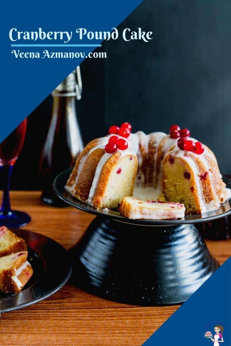 Bundt cake image for sharing on Pinterest