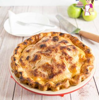 Delicious Pie using Granny Smith Apples in a homemade Pie Crust with video tutorial