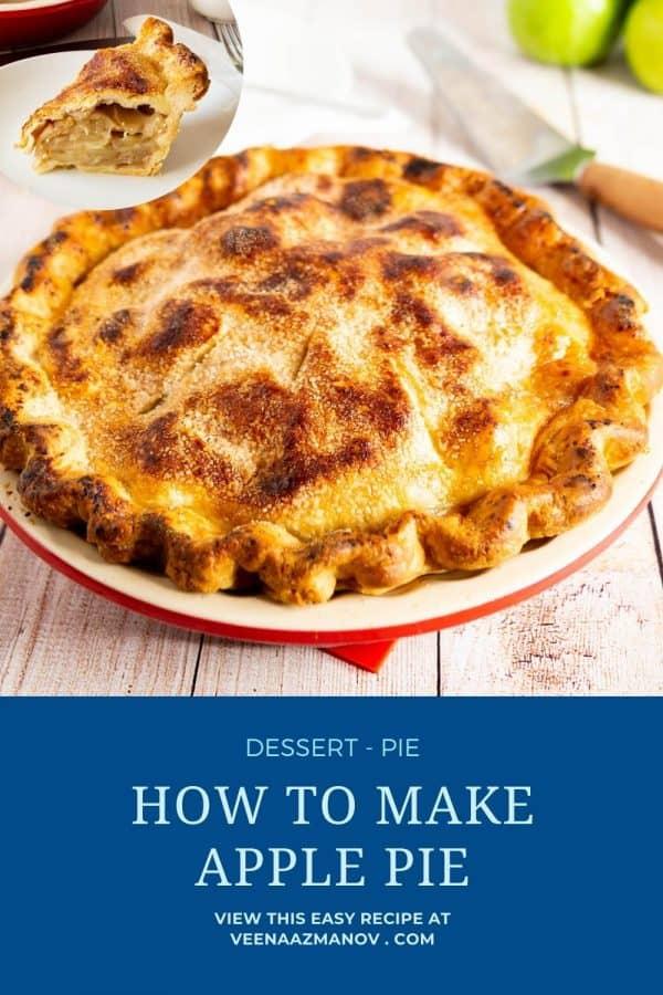 Pinterest image for apple pie.