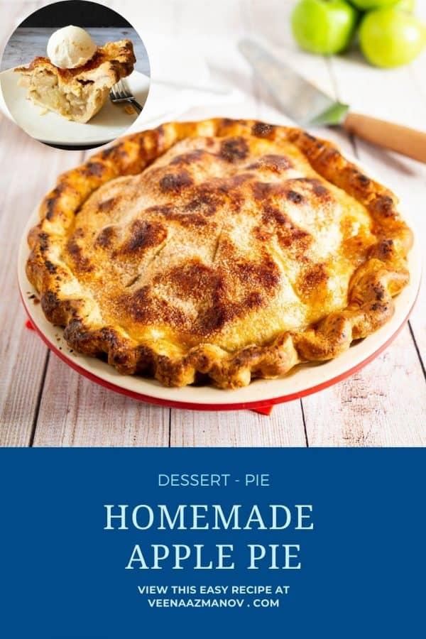 Pinterest image for best apple pie.