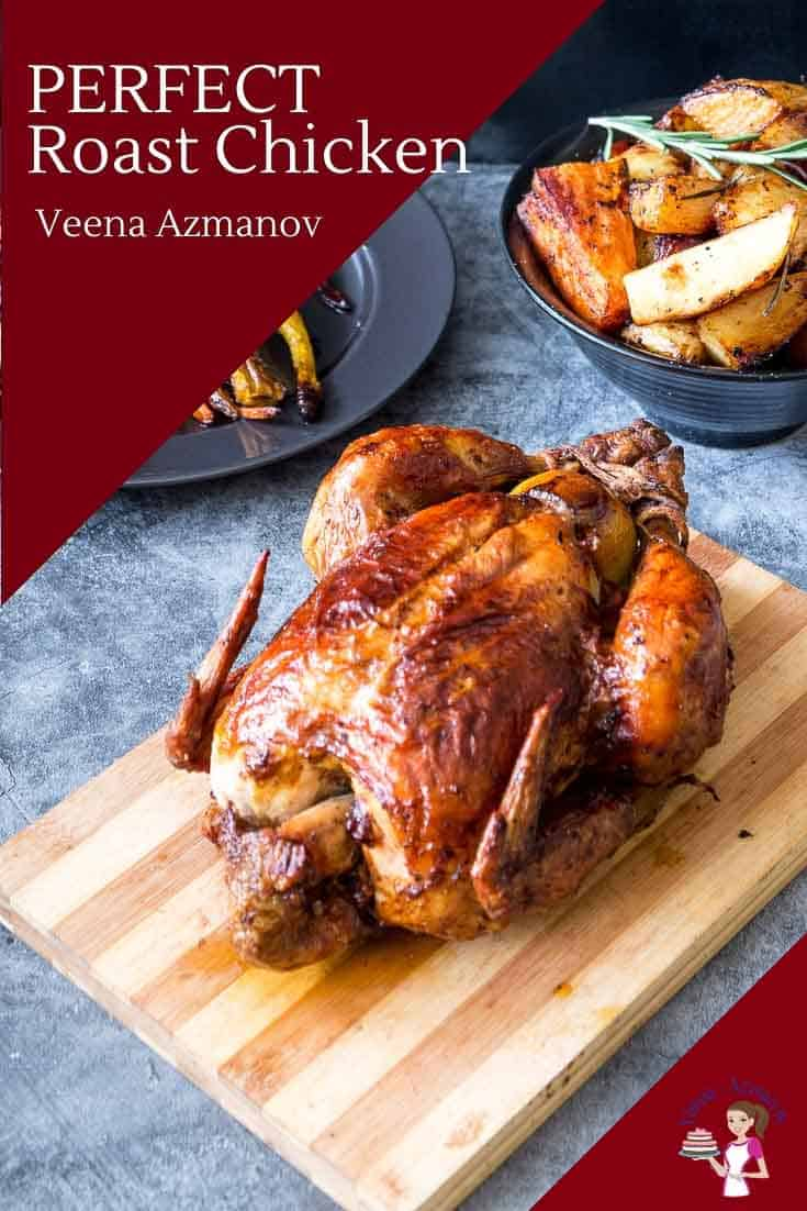Roast chicken is perfect for Sunday or festive dinners when the whole family is around. This paprika roast chicken is juicy on the inside with a golden brown and crisp skin on the outside. Made with most ingredients you probably already have on hand this is how you make the perfect roast every single time. #roast #chicken #perfect #foolproofmethod #cooking #thanksgiving #christmas via @Veenaazmanov