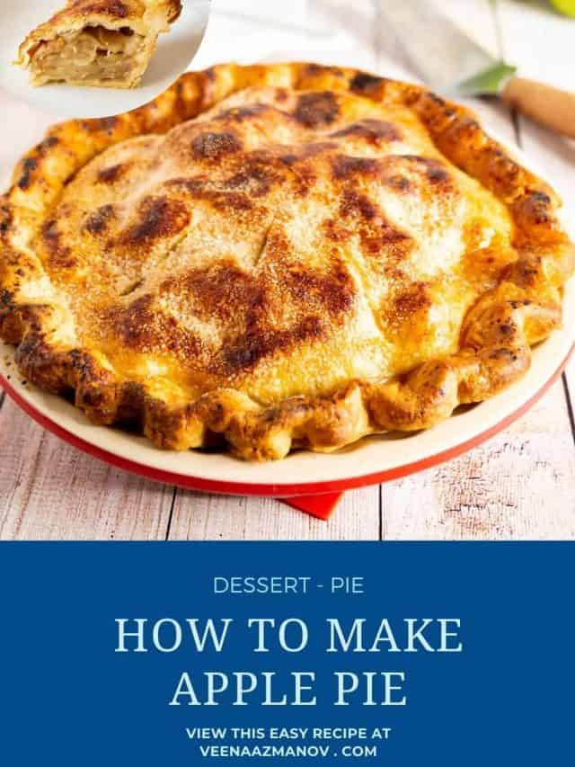 Pinterest image for double pie crust.