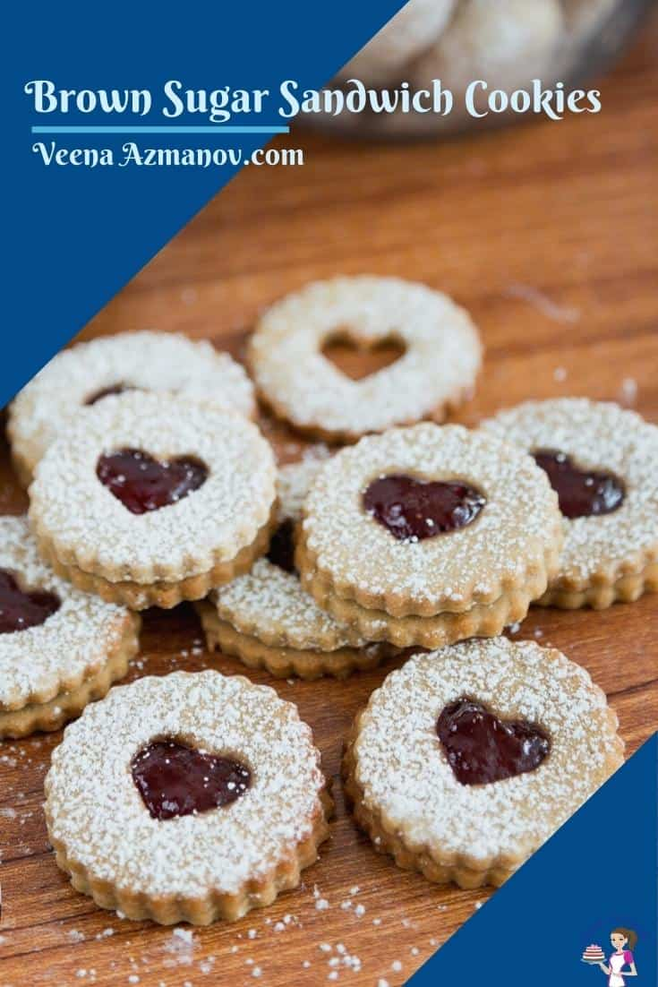 Pinterest image for jam cookies