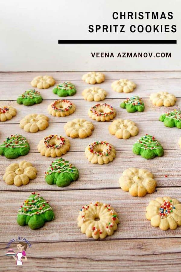 Assorted Christmas cookies on a table.