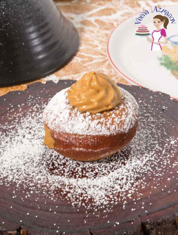 Learn to make wonderful Jewish Doughnuts filled with Dulce De leche cream