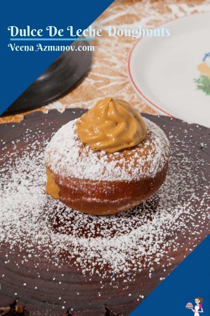 Pinterest image for Dulce De Leche Doughnuts