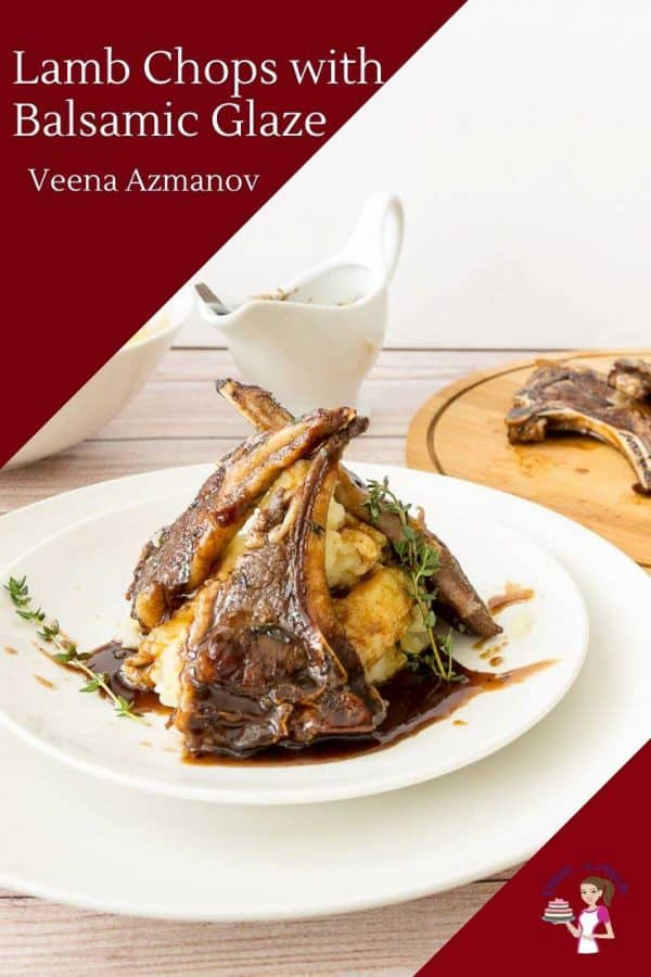 A plate of lamb chops with mashed potatoes.