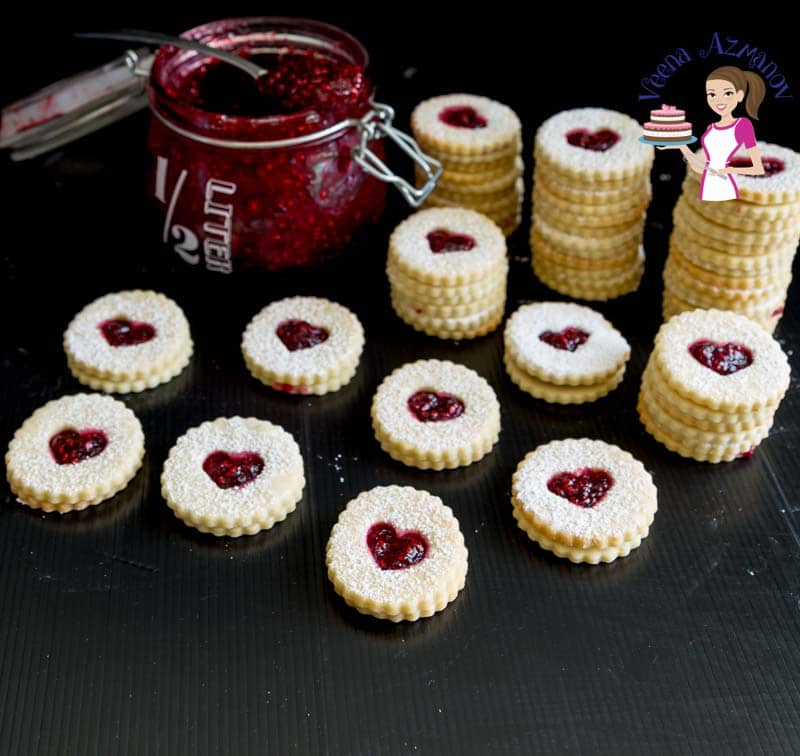Linzer makes the perfect jam sandwich cookies for Christmas