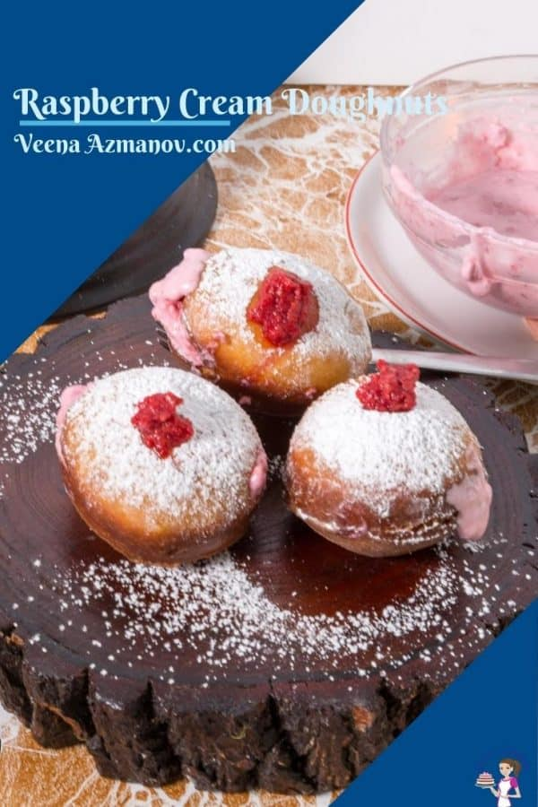 Pinterest image for doughnuts
