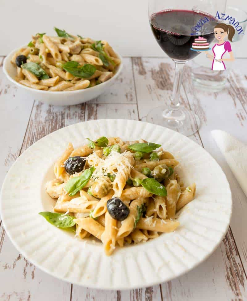 How to cook a Italian pasta dish in 15 mins with chicken
