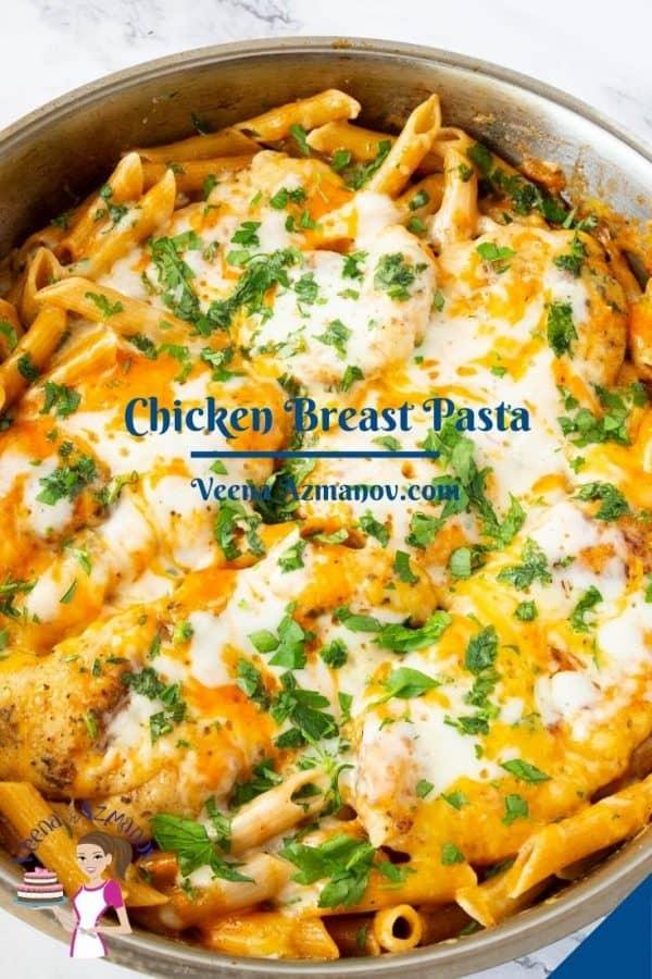 Pinterest image for chicken pasta.