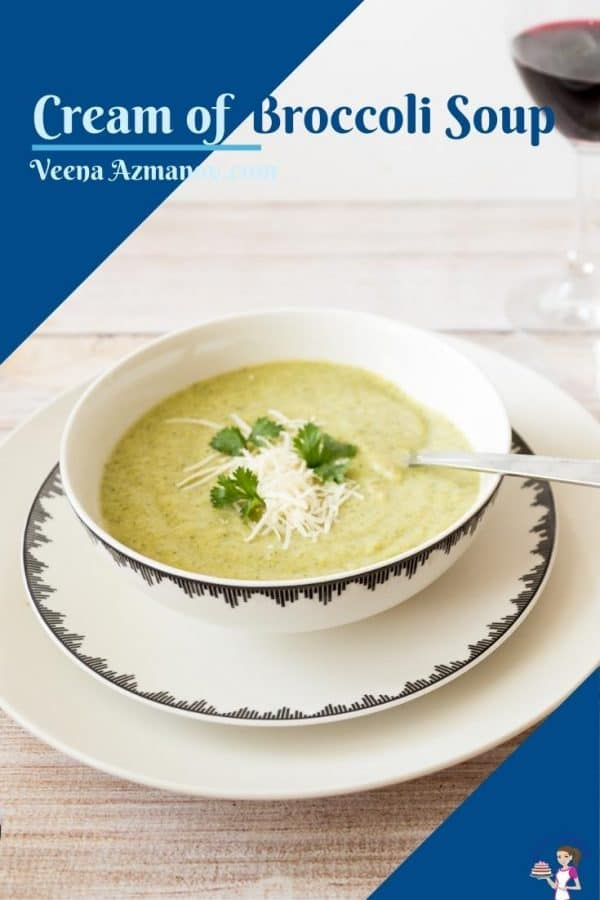 Pinterest image for soup with broccoil