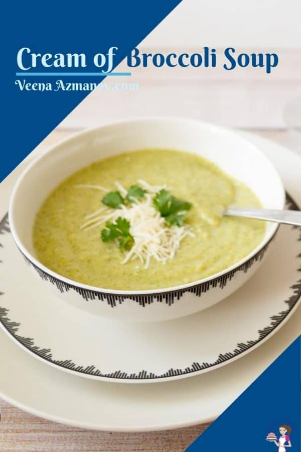 Pinterest image for Broccoli soup