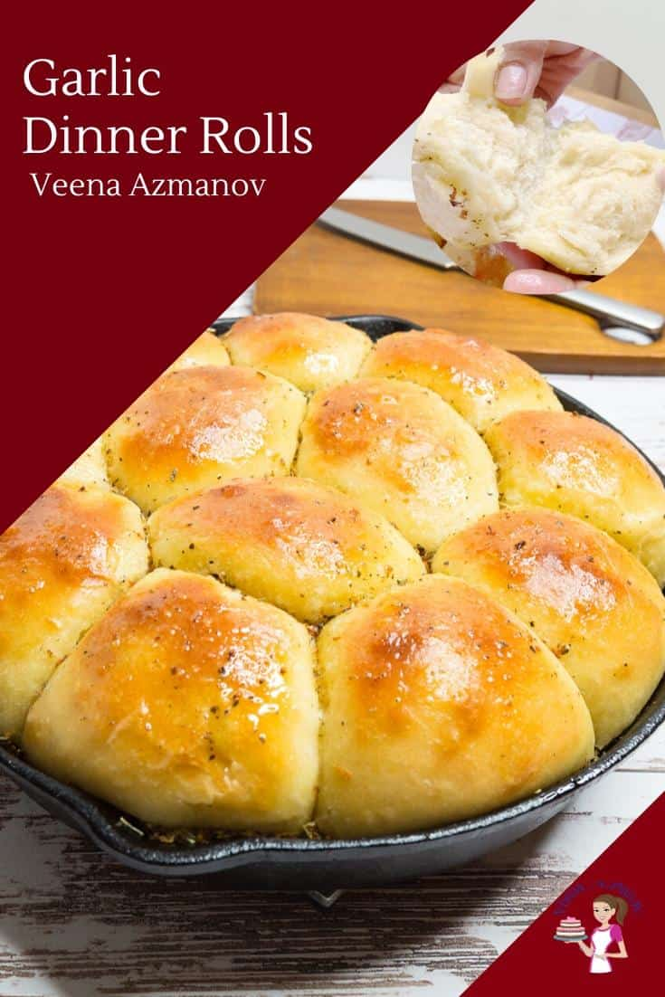 If you love garlic and bread then these garlic dinner rolls are a must-try recipe. Light and fluffy as a cloud but rich and fragrant as garlic. A simple and easy recipe that takes 20 minutes to prep, 20 minutes to bake with some proofing time in between. #dinnerrolls #garlicrolls #garlicbread #breadrolls #breadrecipe #rolls via @Veenaazmanov