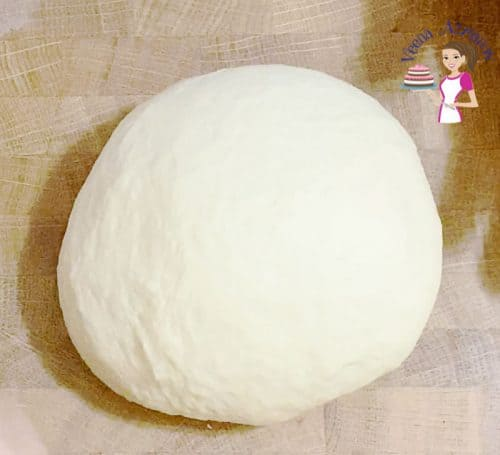 Making the dough for garlic bread