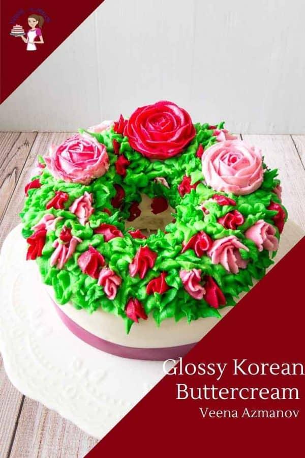Buttercream Flowers made using the Korean Method for Italian Meringue Buttercream