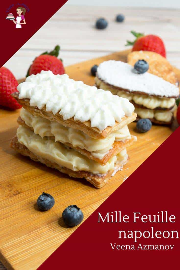 How to make a Classic French Dessert with Puff Pastry and Pastry Cream Mille Feuille or Napoleon