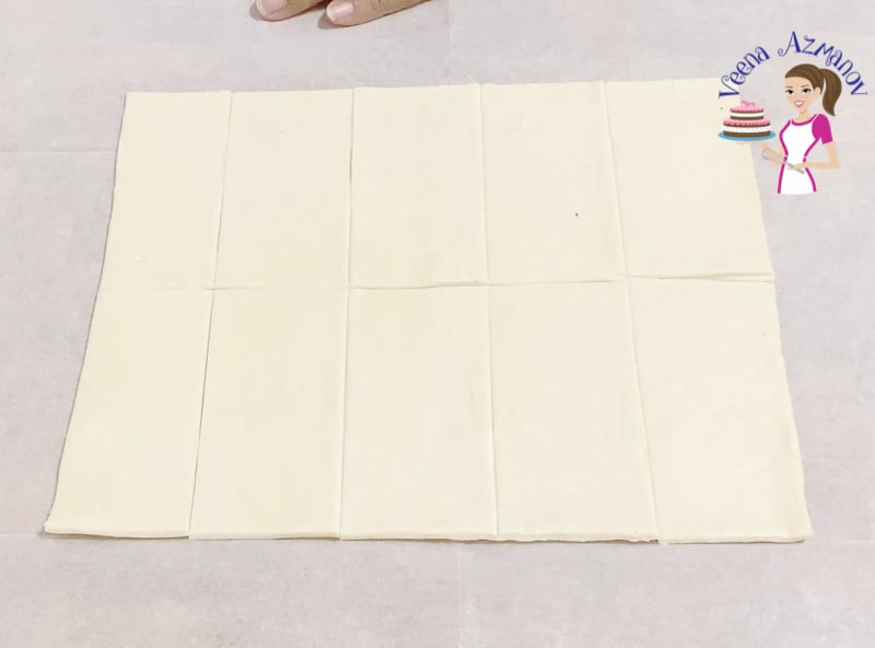 How to cut puff pastry for napoleon mille feuilles