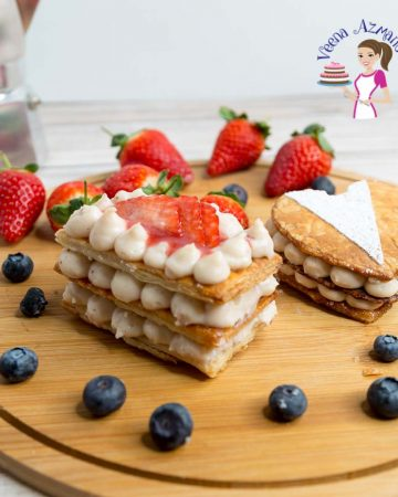 How to make a French Napoleon or Mille-feuille with Strawberries