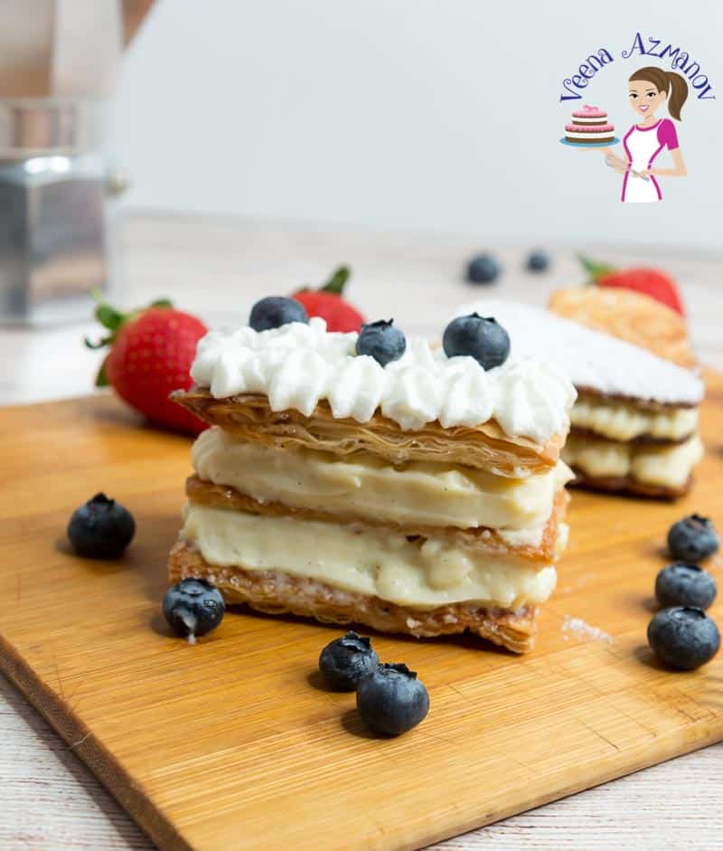 How to make a Classic French Dessert with Puff Pastry and Pastry Cream
