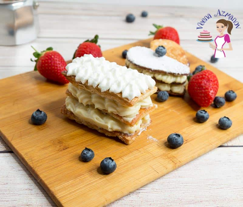 How to make a Classic French Dessert with Puff Pastry and Pastry Cream Mille Feuille