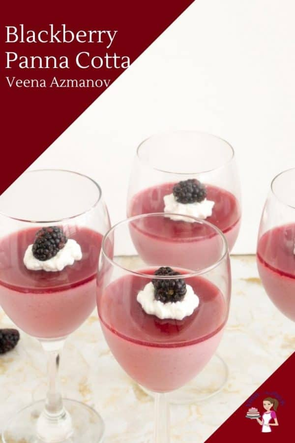 How to make panna cotta at home with Blackberries